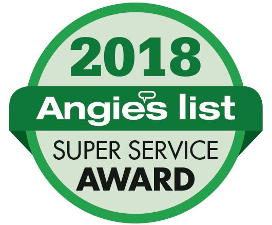 2018 Angie's Logo Amazing Flame Super Service Award